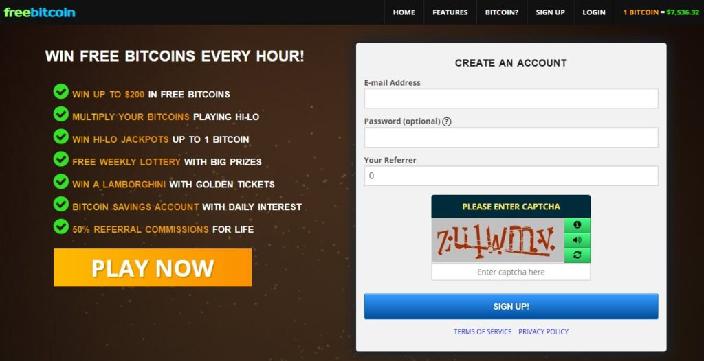 homepage sign up form